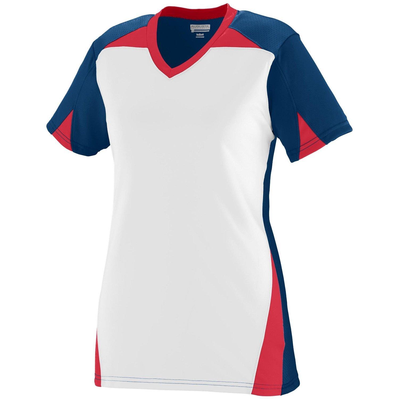 Augusta Sportswearレディースマトリックスジャージー B00P5419FQ xx-large|ネイビー/ホワイト/レッド ネイビー/ホワイト/レッド xx-large