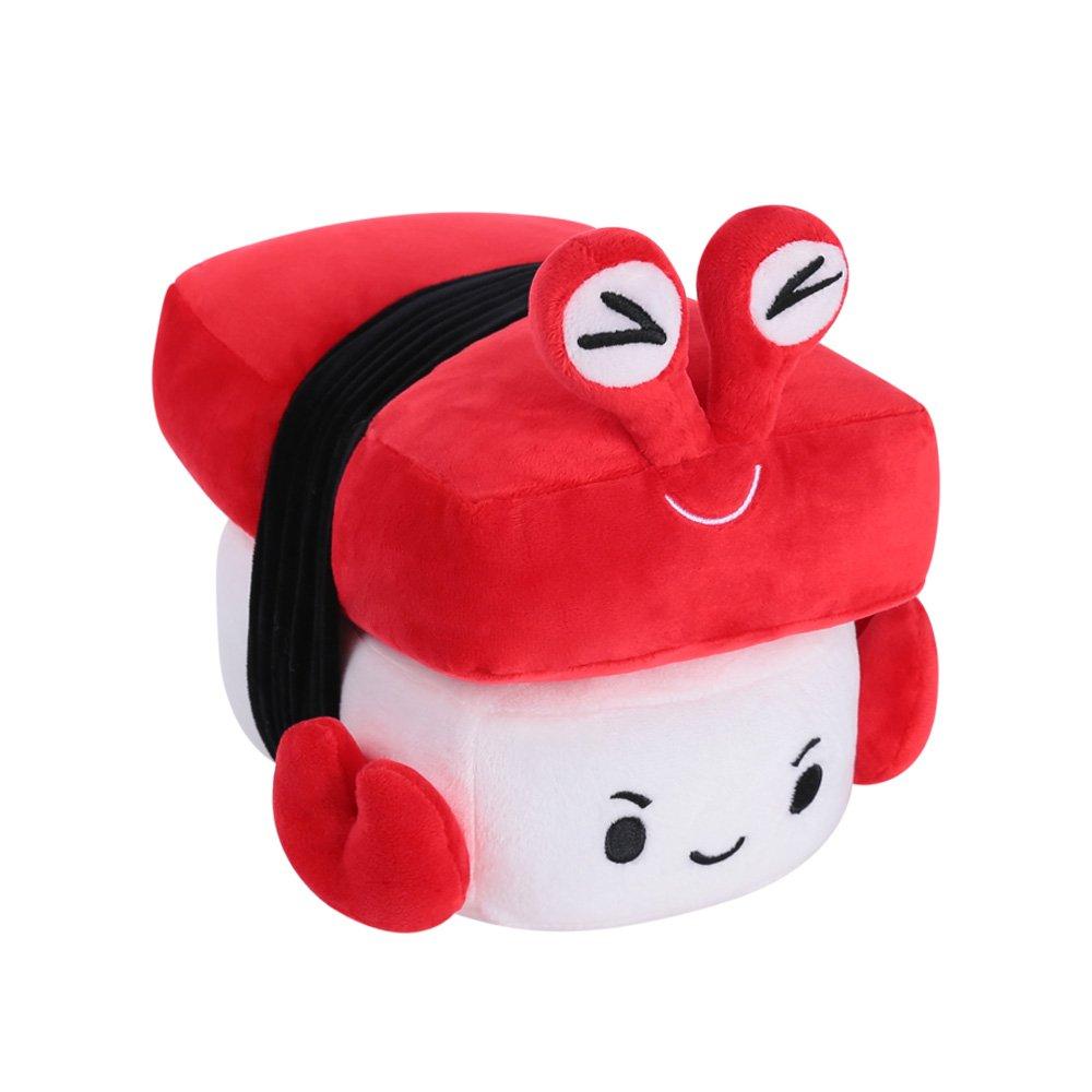 Choba Food Plush Cushion Pillow 20cm(8.0'') Crab Medium Red