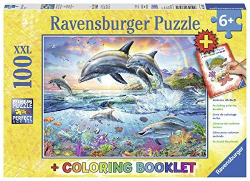 Ravensburger Dolphin - Ravensburger Vibrant Dolphins Jigsaw Puzzles (100 Piece)
