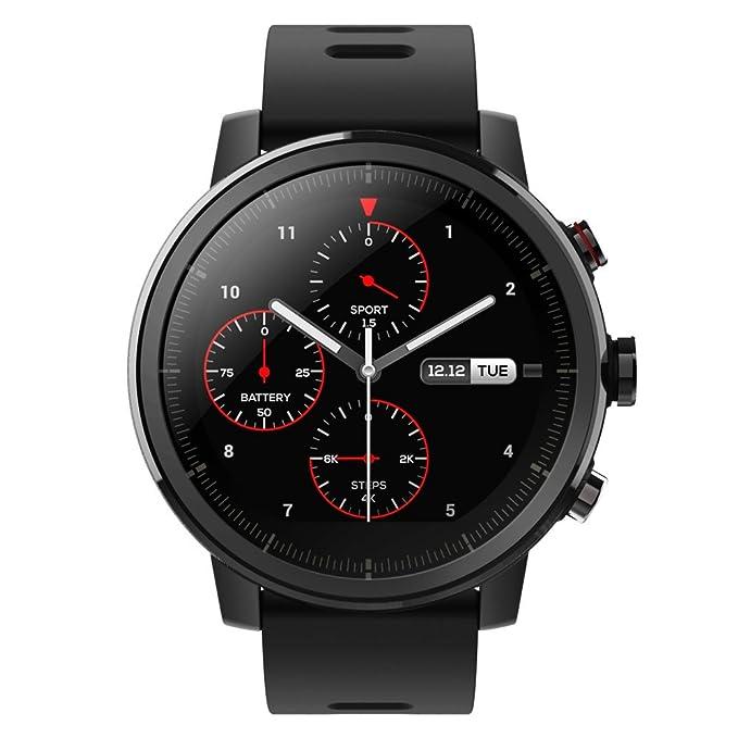 Xiaomi Amazfit Stratos - Smartwatch con GPS y Sensor de frecuencia cardíaca (Resistente al Agua 5ATM) Color Negro: Amazon.es: Deportes y aire libre