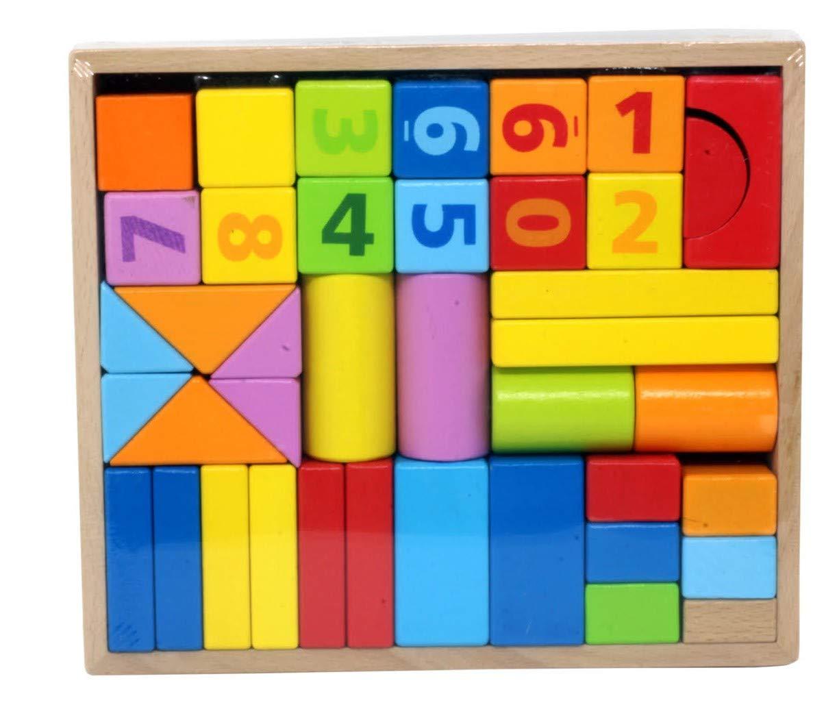一番人気物 Bullahshah カラフルな木製組み立てブロックゲームセット 積み重ねブロック 木製キャリーケース付き Bullahshah 幼児用 幼児用 40個 40個 B07JC9FQRC, SHELTER:f46b8159 --- a0267596.xsph.ru