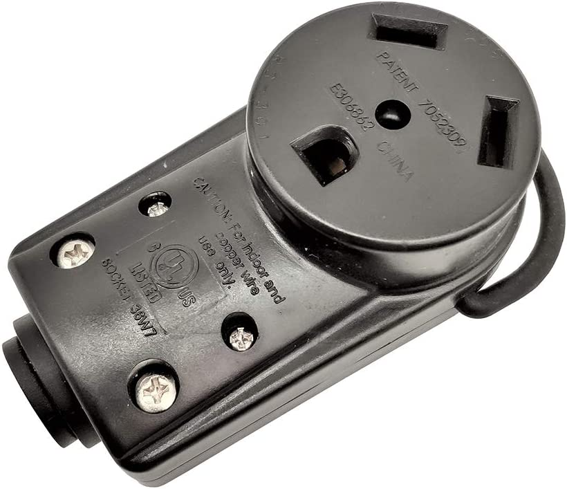 Parkworld 691616 RV 30AMP Replacement Power Assembly TT-30R Female Socket with Handle