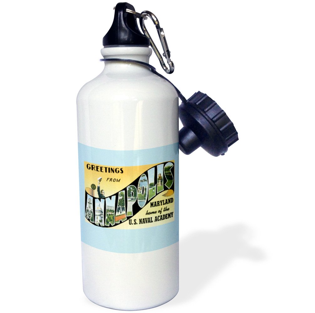 3D Rose wb/_170282/_1 Sports Water Bottle 21 oz White
