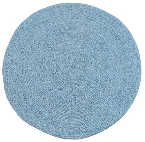 Tata Home Mark Tappeto Scendibagno Scendiletto Tondo Misura Diametro 60 cm in Morbido Cotone 100/% Colore Azzurro