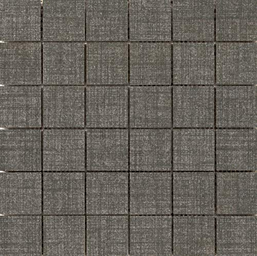 Canvas Flooring Mosaic - Emser Tile F72CANVDE1212MO Canvas - Square Mosaic Floor and Wall Tile - Textured Fabric Visual