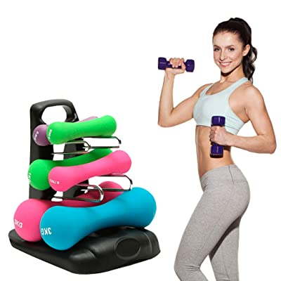 Chenway Dumbbell Rack Stand Only 3 Tier Mini Dumbbell Holder Home Gym Exercise Weight Rack : Sports & Outdoors