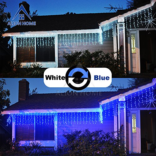 Blue Led Icicle Xmas Lights - 7