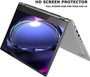 Starfilm Screen Protector for Lenovo Yoga 530-14/520-14/ Flex 6 14 Inch HD Full Screen Protector with Opening Hole 14 Inch 2 pcs (Yoga 530-14, 14 Inch)