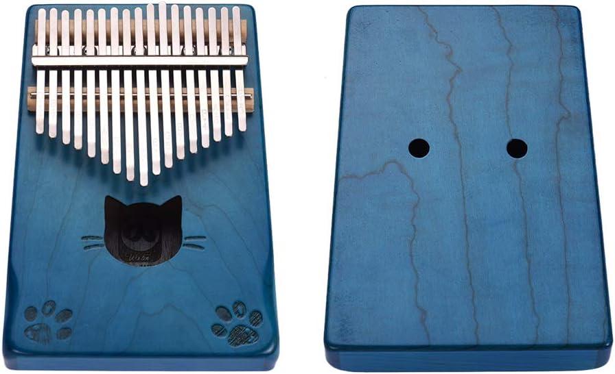 Muslady Walter.t Kalimba de 17 Teclas Piano de Pulgar Port/átil Mbira Madera de Arce con Bolsa de Transporte Martillo de Afinaci/ón Pegatinas de Tela de Limpieza Regalo Musical