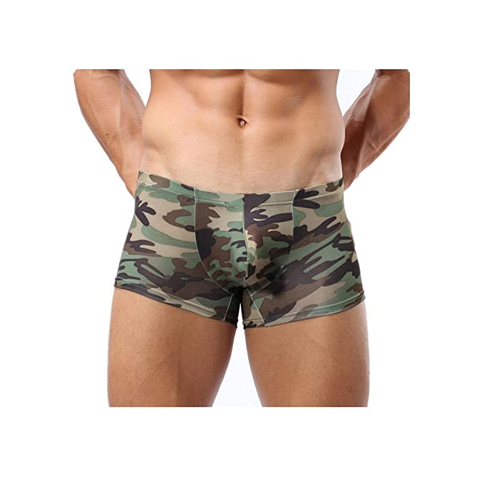 JYC Hombre Pantalones Cortos, Hombres Camuflaje Boxer Militar Bragas Bañador Ropa Interior Underpant Bóxers Ajustados