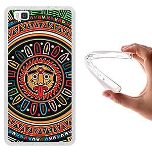 WoowCase - Funda Gel Flexible { Huawei P8 Lite } Calendario Maya Carcasa Case Silicona TPU Suave