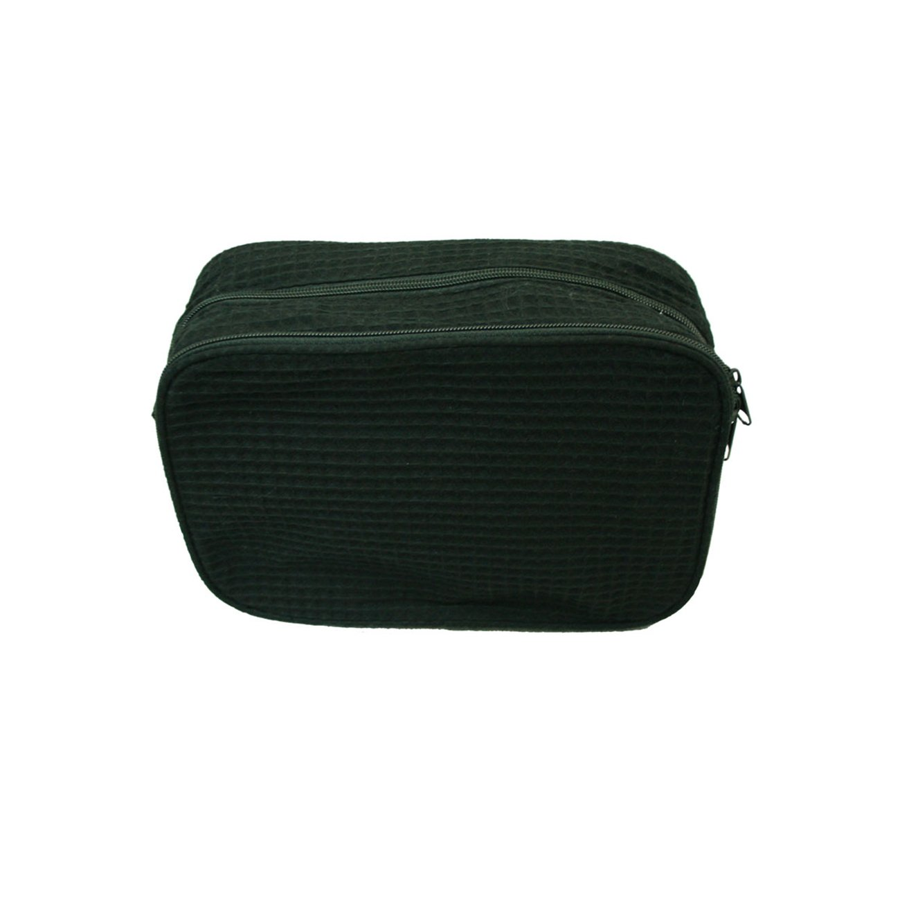 Waffle Cosmetic Makeup Bag One Size, black
