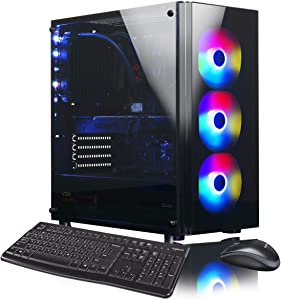 XOTIC V200 Extreme (Intel 9th Gen i9-9900K 8-core 5.0GHz Turbo, 32GB DDR4 RAM, 500GB NVMe SSD + 2TB HDD, RTX 2070 Super 8GB, Windows 10) Liquid Cooled VR Ready Gaming Desktop PC