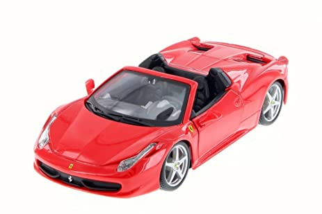 Attirant Ferrari 458 Spider, Red   Bburago 26017D   1/24 Scale Diecast Model Toy