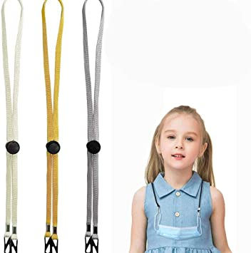 Comfort Neck Straps with Two Clips Anti-lost Adjustable Face Cover Lanyards