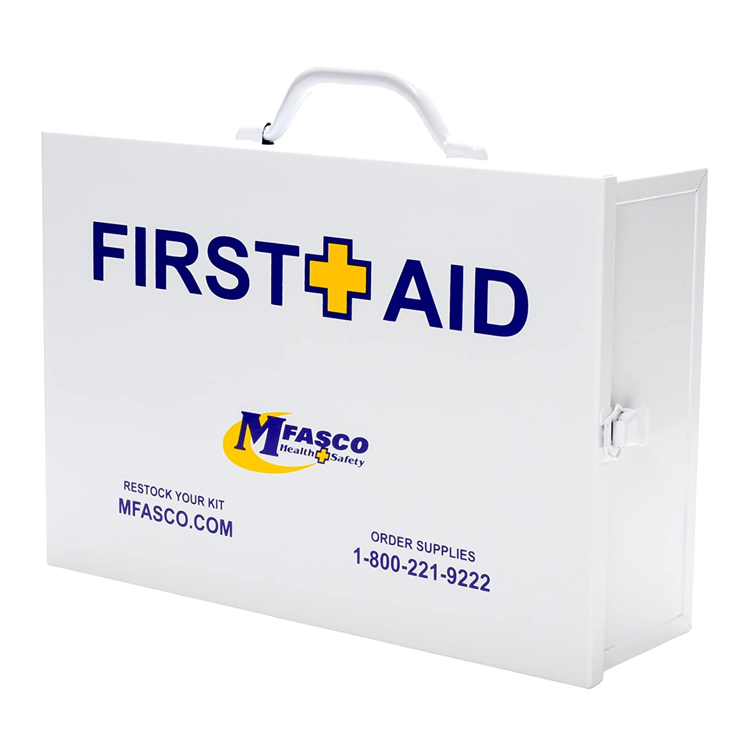 Restaurant First Aid Kit 2 Shelf Metal Cabinet OSHA Class A by MFASCO