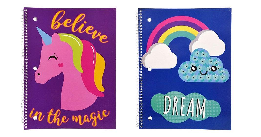 Kawaii Cute Unicorn Spiral Notebooks Set