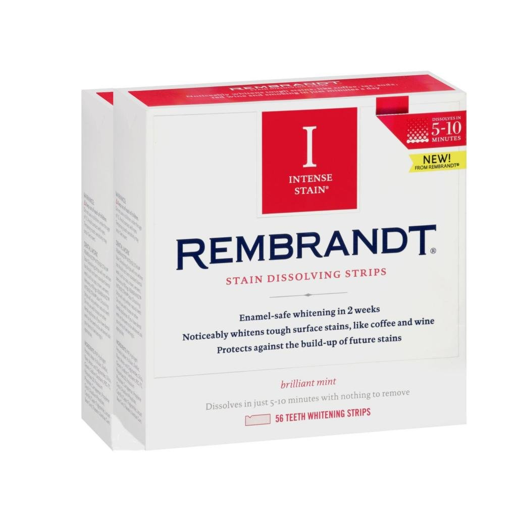 Rembrandt Intense Stain Dissolving Strips, 56 Count (Pack of 2)