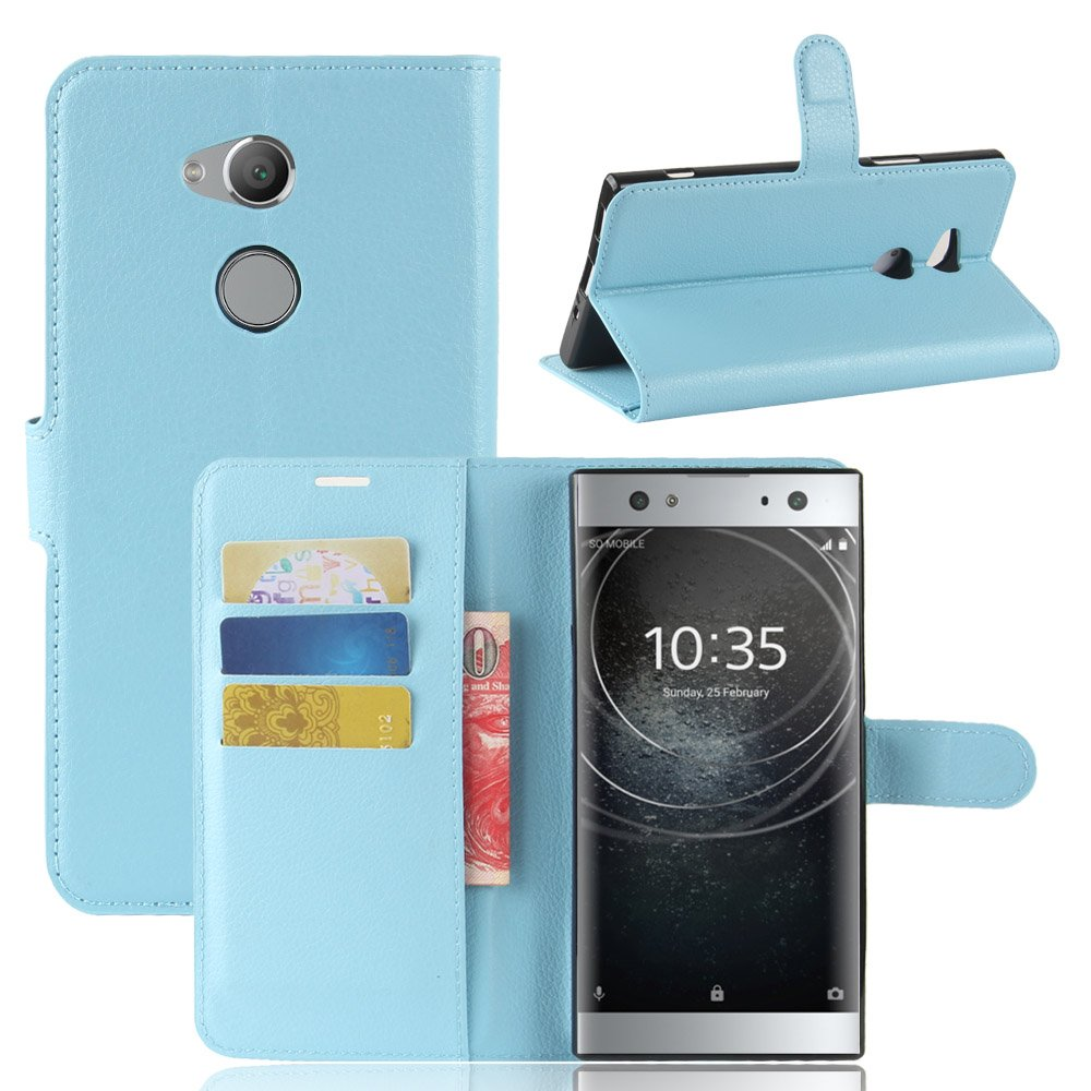 GOGME Sony Xperia XA2 Ultra Wallet Case Premium PU Leather Wallet Cover with Magnetic Closure and Card Slots, Braun OEM
