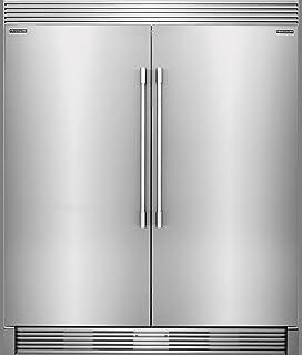 Frigidaire PROFESSIONAL Stainless Steel Refrigerator Freezer Combo U0026 Trim  FPRU19F8RF FPFU19F8RF TRIMKITEZ2