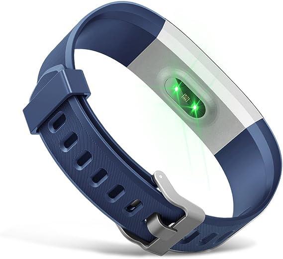 Demiawaking Armband Ersatz Zubehör Für Id115plus Hr Smart Watch Blau Sport Freizeit