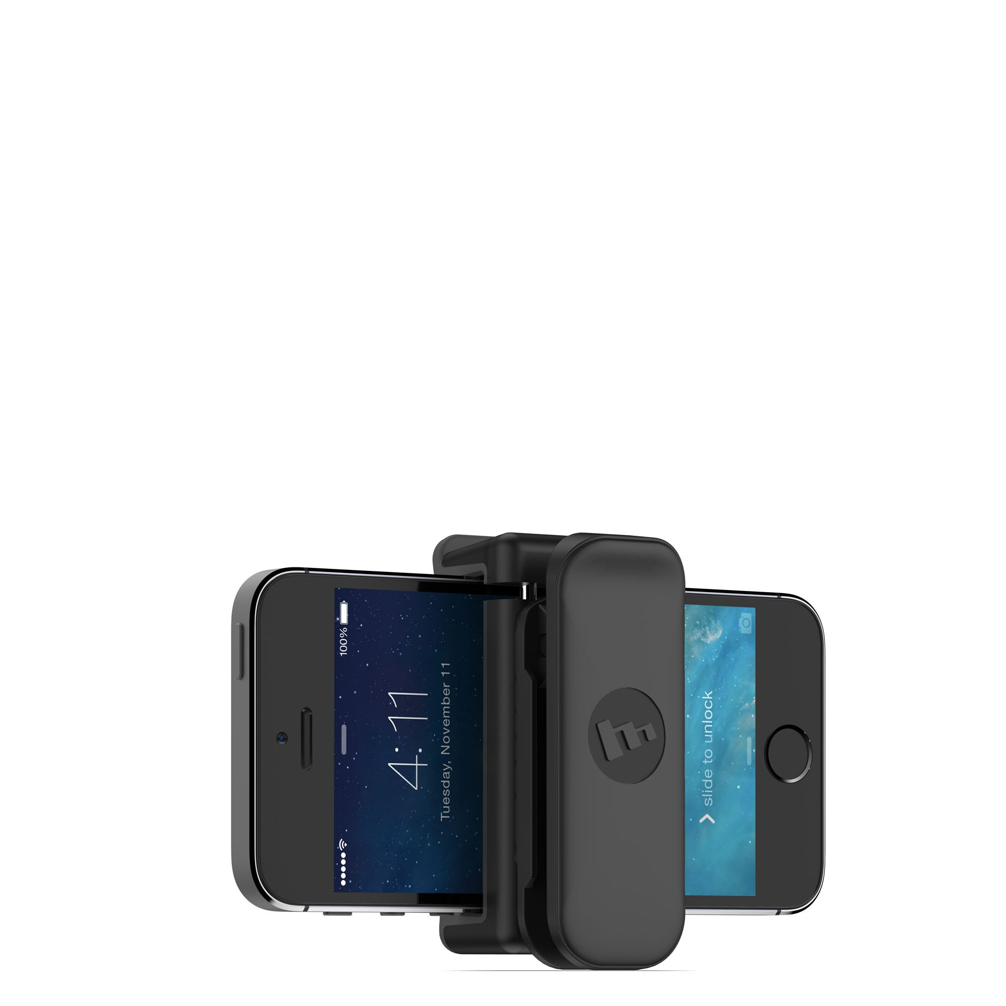 mophie Universal Belt Clip Compatible with iPhone - Apple 6/6s iPhone 6 Plus/6s Plus, iPhone 5s/5s/5c/5 - Black