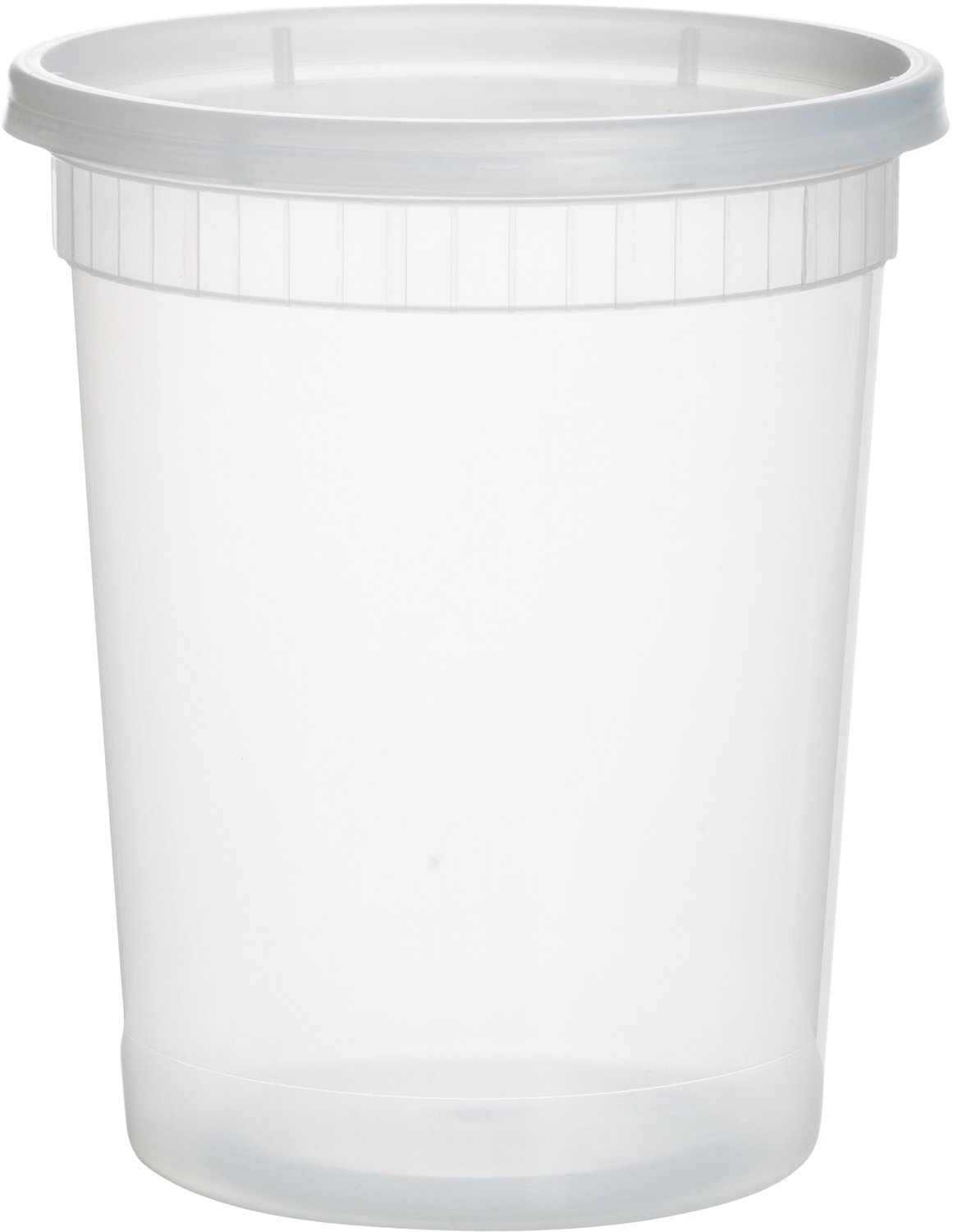 Paksh Novelty Plastic Containers for Lunch/Large Food Container with Lid, Leak Proof, Microwavable, Freezer & Dishwasher Safe, 32 Ounce, 24 Pack