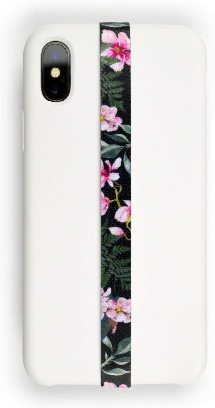 Phone Grip Finger Strap Accessory for Mobile Cell Phone, by Phone Loops (Bloom)