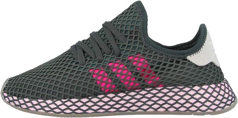 Adidas Deerupt Runner W, Zapatos de Escalada Mujer, Multicolor (Hieley/Rossho/Ros Cl A 000), 40 2/3 EU