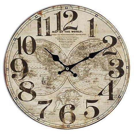 Reloj Pared Mundo 34 cm