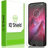 IQ Shield Screen Protector Compatible with Moto Z2 Force Anti-Bubble Clear Film