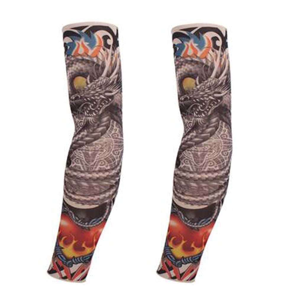 Outdoor Sports Arm Warmers Tattoo Sleeves Fashion Arm Sleeves Set of 2 Arm Cover PANDA SUPERSTORE PS-SPO2420102011-SUE01472