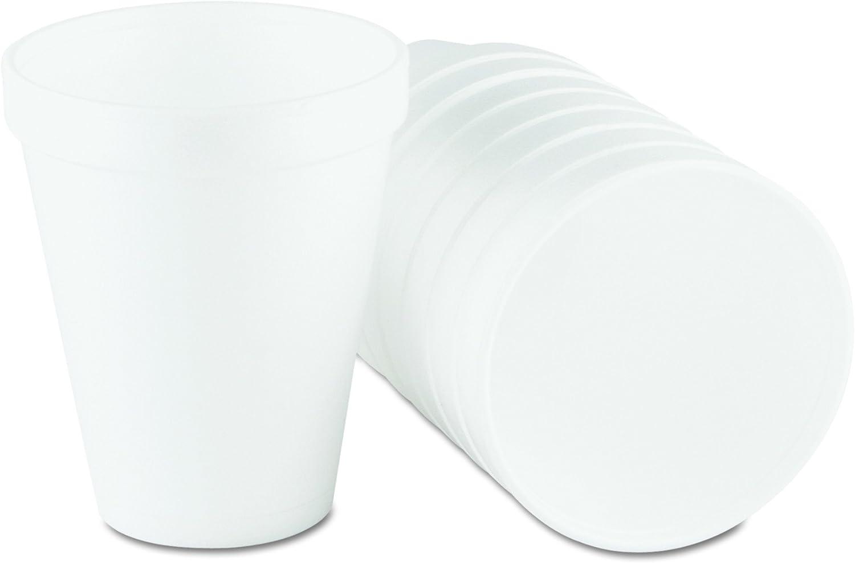 Dart 10J10 Foam Drink Cups, 10oz, White, 25 per Bag (Case of 40 Bags)