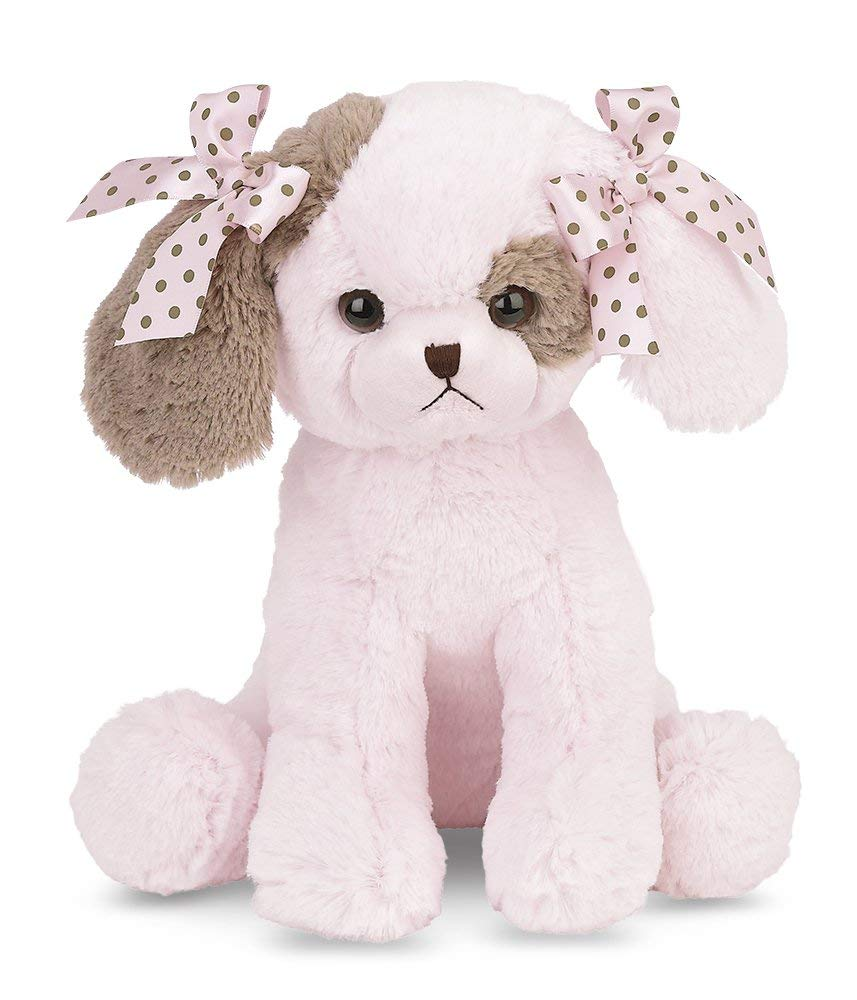 Bearington Baby Wiggles Lullaby, Animated Musical Pink Puppy 13''
