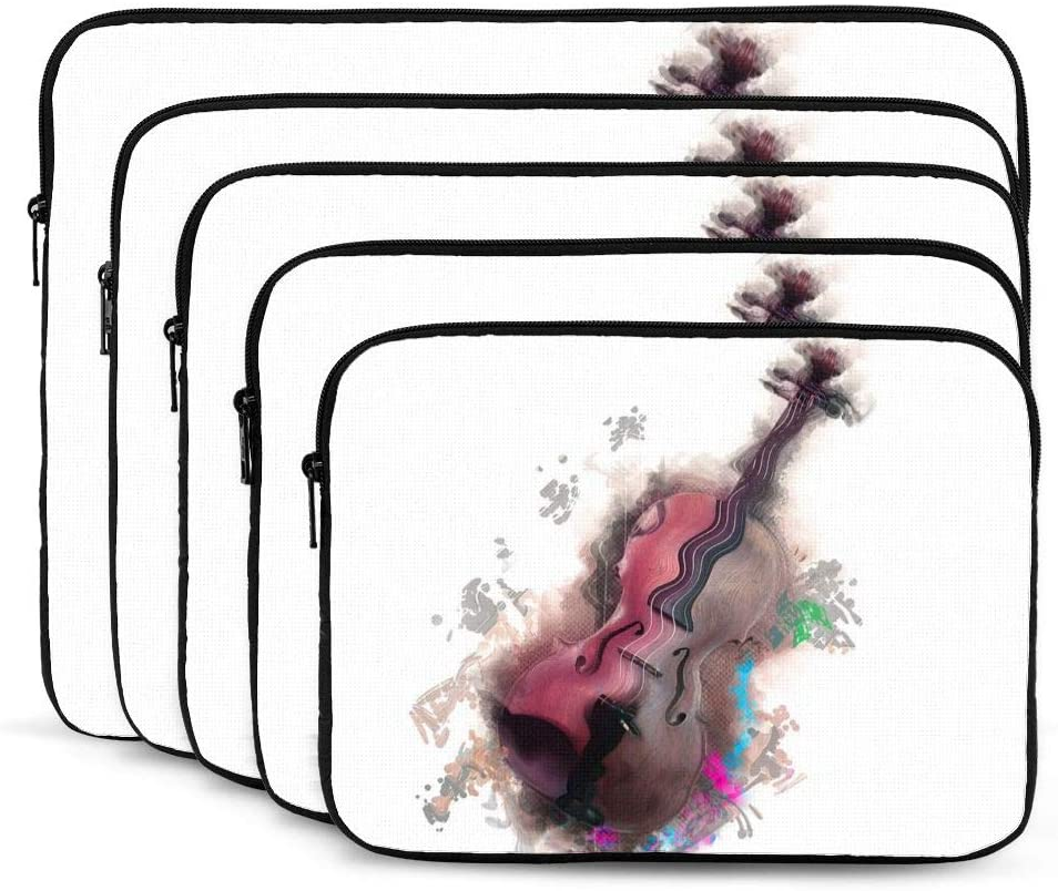 Violin Print Laptop Sleeve 12 inch, Shock Resistant Notebook Briefcase, Computer Protective Bag, Tablet Carrying Case for MacBook Pro/MacBook Air/Asus/Dell/Lenovo/Hp/Samsung/Sony
