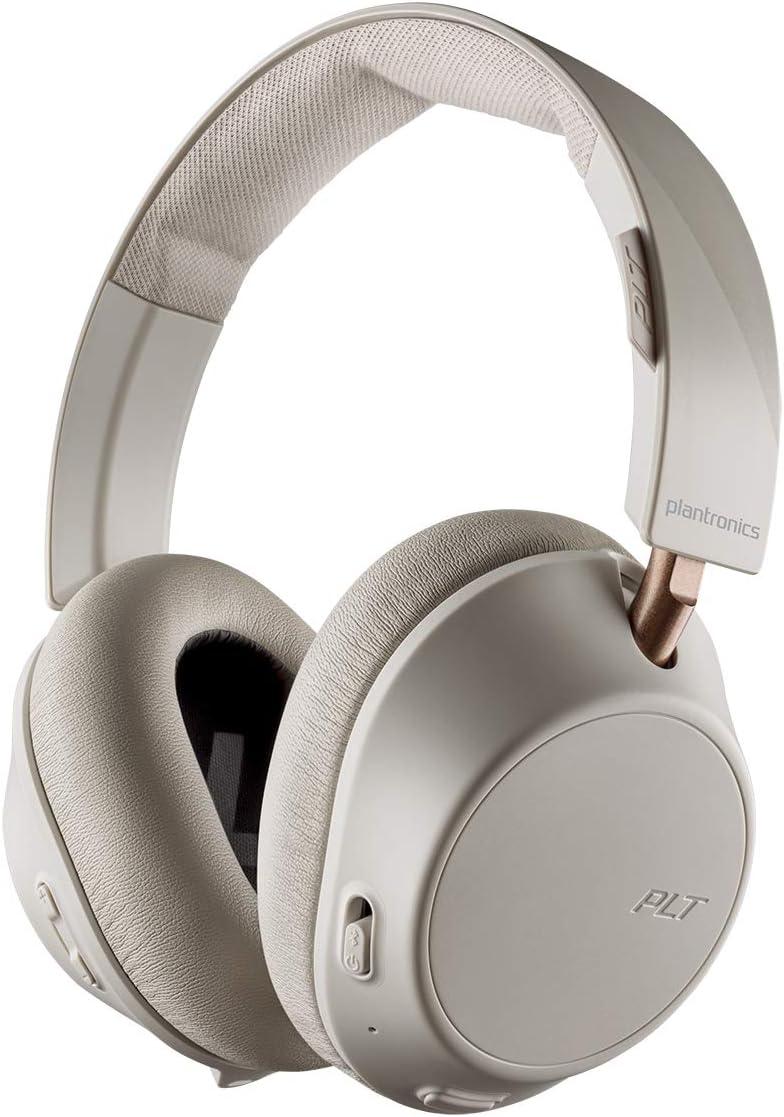Plantronics BackBeat Go 810 Auriculares Bluetooth, Espuma con Memoria, sobre la Oreja, Hueso-Blanco, Uni