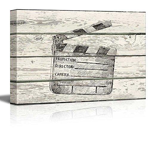 Directors clapboard Artwork Rustic