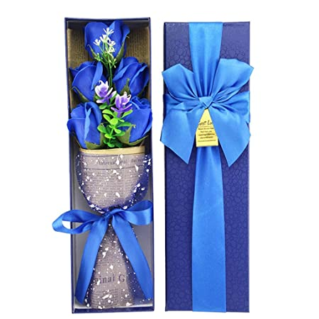 SHJICH Soap Flower - Eternal Flower Rose Gift Box Regalo de ...