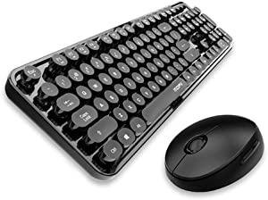 Wireless Keyboard and Mouse Combo High-Key Keyboard for PC/Laptop/Computer (Black)