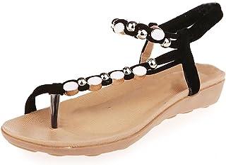beautyjourney Infradito Donna Eleganti con Strass Mare Sandali Donna Bassi Elegant Scarpe Donna Eleganti estive Pantofole Donna estive Elegant Ciabatte Donna estive da casa Mare