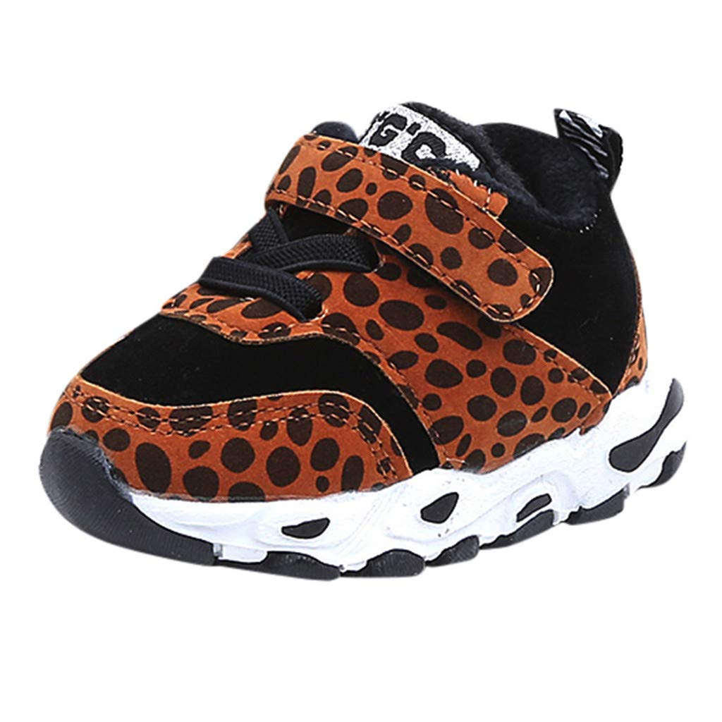 Baby Girl Boys Warm Leopard Sneaker Sport Shoes,Outsta Children Baby First Walker Winter Shoes
