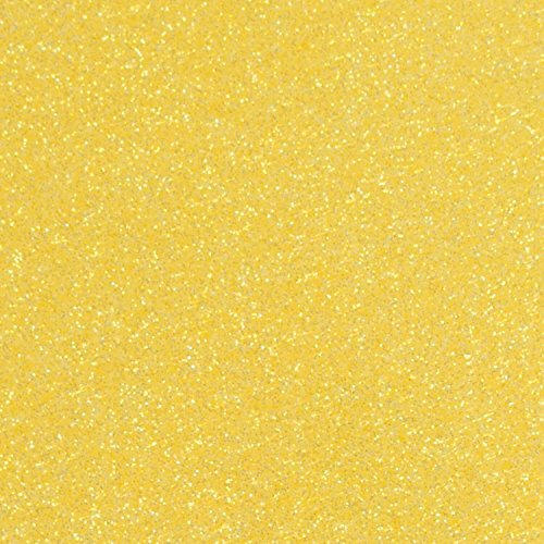 Siser Glitter Heat Transfer Vinyl HTV for T-Shirts 10 by 12 inches (1 Foot) 3 Precut Sheets (Lemon Sugar) by Siser