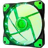 アイネックス LED搭載 ケース用ファン120mm グリーン SC-120-G