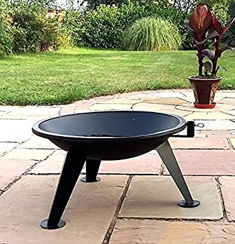 Suspended Adjustable BBQ Chrome Grill with poker Nimbus Barbecue Fire Pit Big 65 cm Bowl