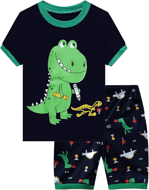 Turtle Little Boys Pajamas Clothes Suit Cotton Toddler Sleepwear Pyjamas 2-7year