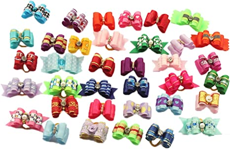 dog hair bows Easter dog bows 58 inch Spring dog bows Easter Mellow topknot show bows bows for dog hair yorkie accessories