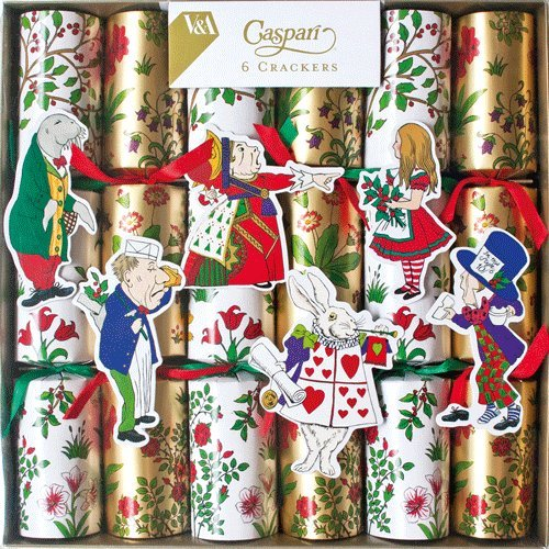 Christmas Crackers Alice in Winter Wonderland Six Xmas Crackers Poppers