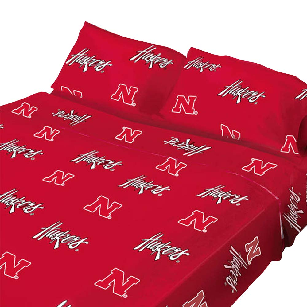 College Covers Nebraska Cornhuskers Printed Sheet Set - Queen - Solid by College Covers