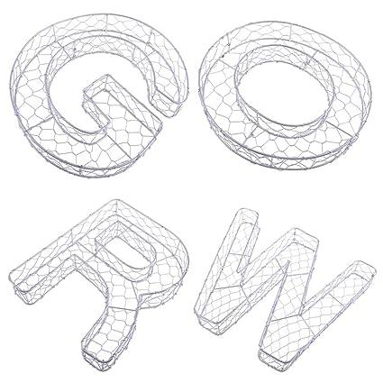 Amazon.com: Flameer – 4 piezas estilo letra arte de pared ...