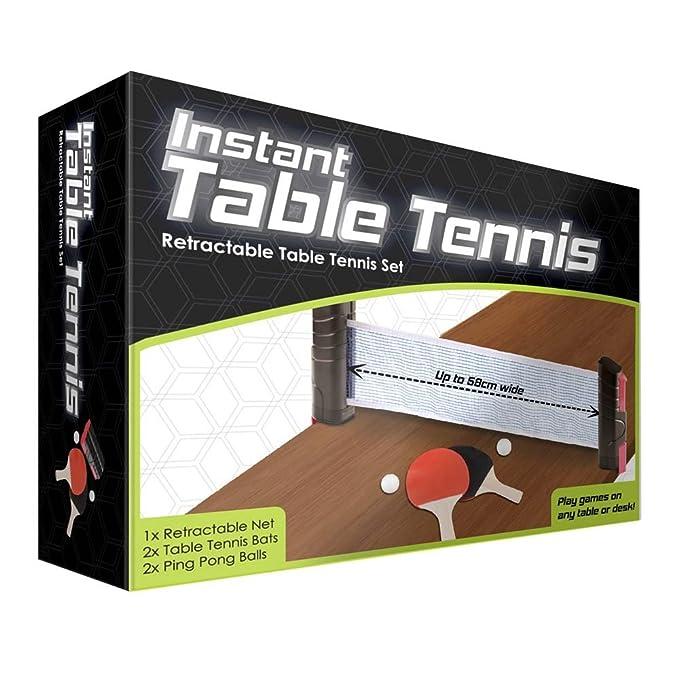 Instant - Retractable Table Tennis Set by Funtime: Amazon.es: Deportes y aire libre